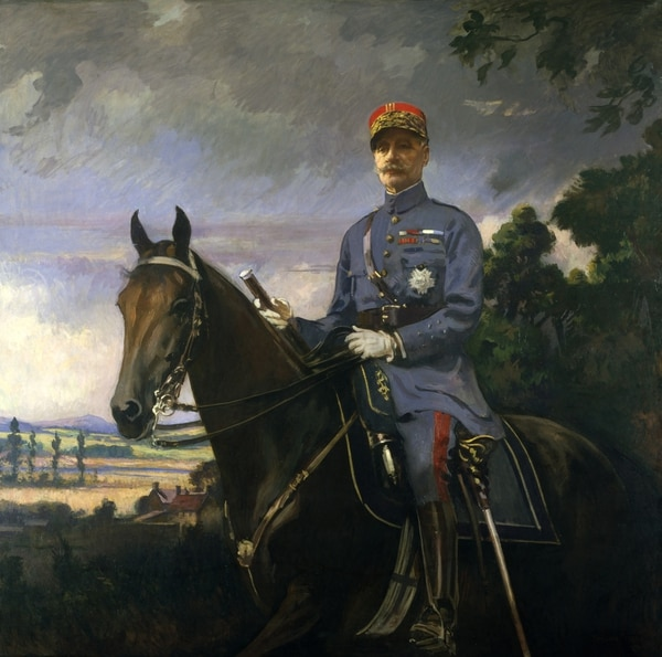 Mounted on a weapon of war already outmoded by modern weapons, French Gen. Ferdinand Foch disputed the relevance of military aircraft, too. (