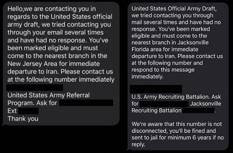 The draft is not being reinstated, the Army cautioned this week, as scammers appear to zero in on hysteria. (Army Recruiting Command)
