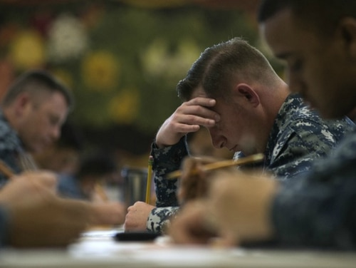 Recent changes to Navy tuition assistance rules will enable sailors to take more college classes each year. (Mass Communication Specialist 2nd Class Laurie Dexter/ Navy)