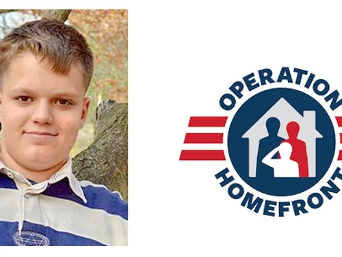 Joshua Frawley, Operation Homefront's 2018 Military Child of the Year honoree representing the Marine Corps (Courtesy of Operation Homefront)