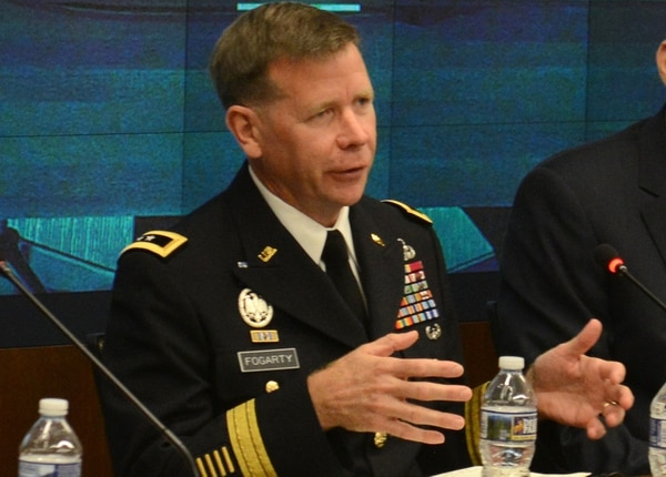 Then Maj. Gen. Stephen Fogarty, now commander of Army Cyber Command. (David Vergun/Army)