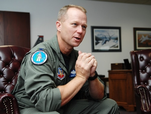 Lt. Gen. Mark Kelly, shown here as a colonel serving as vice commander of the 366th Fighter Wing at Mountain Home Air Force Base, has been nominated to be the Air Force's next deputy chief of staff for operations. (A1C Ryan Crane/Air Force)