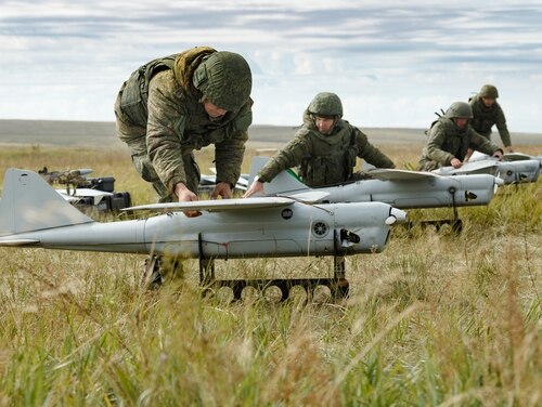 With new cell phone jammers, these drones can interference with communications over a 135 miles away from where they're launched (Vadim Savitsky, Ministry of Defence of the Russian Federation )
