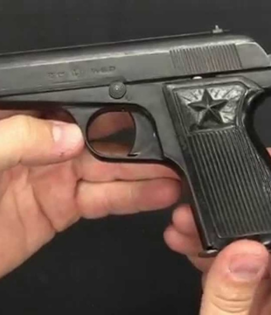 The North Korean Type 70 pistol is a strange mix of US, Belgian and Chinese firearms. (Photo from Forgotten Weapons YouTube)