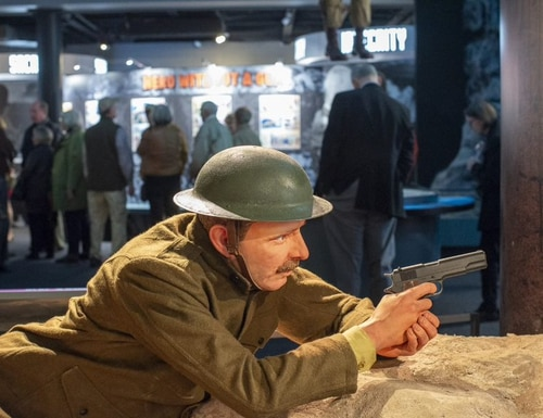 The National Medal of Honor Heritage Center opened recently in Chattanooga, Tenn. Displays include recreations of battle scenes such as this World War I depiction of Army Sgt. Alvin York. (Charles H. Coolidge National Medal of Honor Heritage Center)