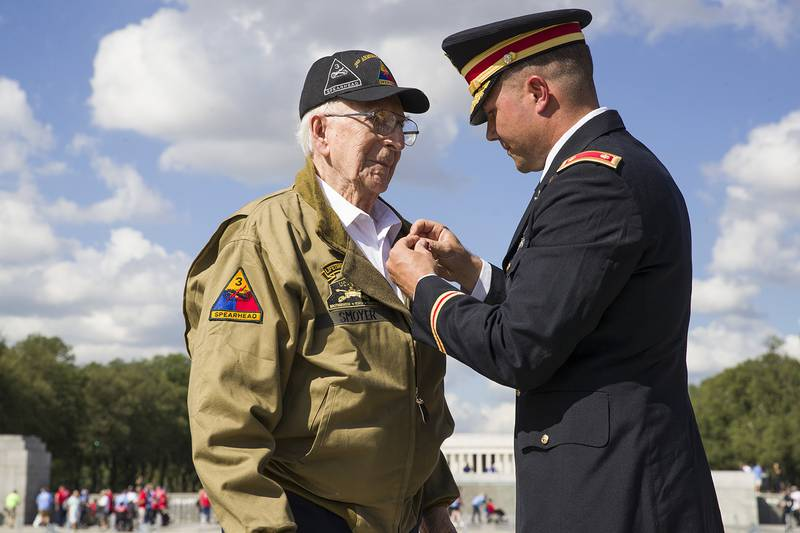 World War II veteran Clarence Smoyer