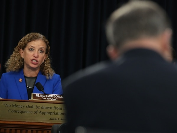 Rep. Deborah Wasserman Schultz, D-Fla., speaks during a House Appropriations Committee hearing on Feb. 27, 2019.. The committee heard testimony on President Trump's 2019 national emergency declaration. (Mark Wilson/Getty Images)