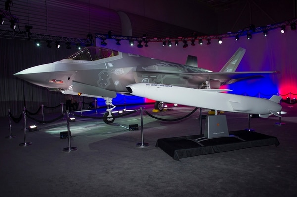 Pictured here is the first F-35 for Norway, known as AM-1, with the Joint Strike Missile (JSM). Designed and built by Kongsberg Defense & Aerospace, Kongsberg, Norway, the JSM is an Air-to-Surface weapon designed for long range precision strike in high threat scenarios.