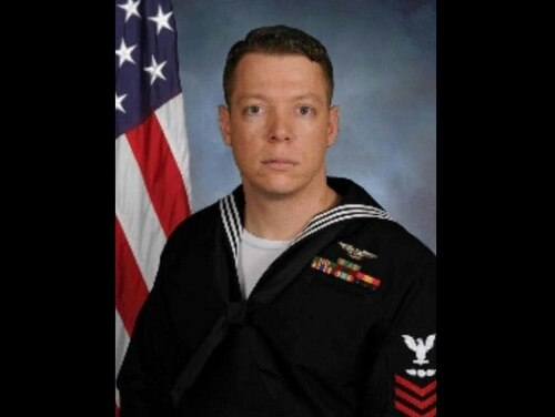 Chief Aviation Electrician's Mate David J. Cahill died in a traffic accident July 24. (Navy)