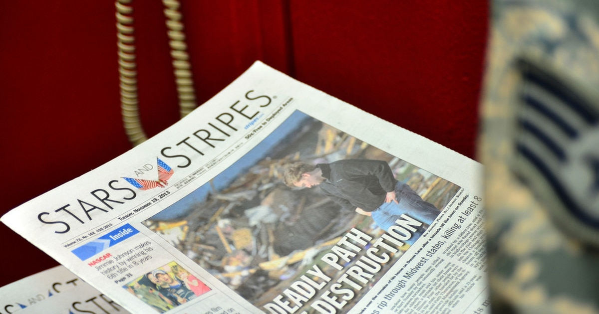 Stars and Stripes, military newspaper for service members, in jeopardy of losing Pentagon funding