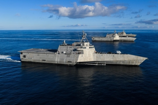 A government watchdog report warns that the Navy's system for maintaining littoral combat ships could lead to even tougher challenges. (Navy)