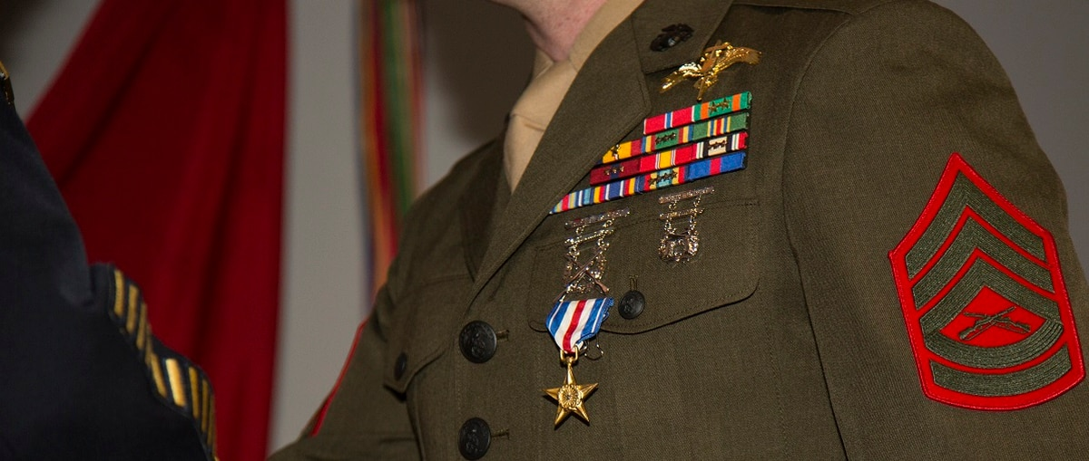 Marine Raider Receives Silver Star For Actions During