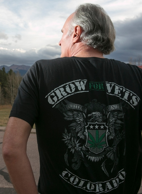 Roger Martin, Army veteran and founder of Grow For Vets, photographed at his home in Woodland Park, Colo., on Oct. 19, 2015. (Mike Morones/Staff)