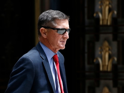 In this June 24, 2019, file photo, Michael Flynn, President Donald Trump's former national security adviser, departs a federal courthouse after a hearing, in Washington. (Patrick Semansky/AP)