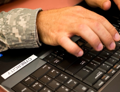 With an increased number of DoD employees teleworking, the network is being strained, a top cybersecurity official said. (Staff Sgt. Tracy J. Smith/Georgia Army National Guard)