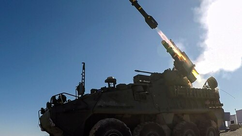 The Army's Short-Range Air Defense system undergoes weapons testing at White Sands Missile Range, N.M. (Army)