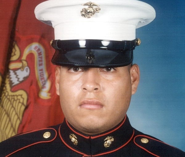 Marine Sgt. Ragael Peralta is shown in an undated photo provided by his family. Peralta died on Nov. 15, 2004, on the way to a field hospital in the Anbar province of Iraq after being shot in the chest and wounded in the head from bomb shrapnel. (AP Photo/Family Photo via San Diego Union-Tribune)