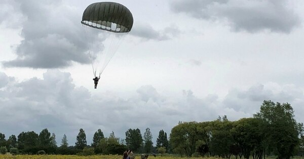 Even experienced paratroopers had to undergo three days of intense training to participate in the D-Day reenactment festivities. (Photo courtesy of Ret. Army Maj. Gen. Edward Dorman)
