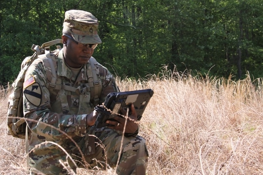 Army PEO C3T is delaying the release of a final RFP for an advanced encryption device. (Dan LaFontaine/U.S. Army)