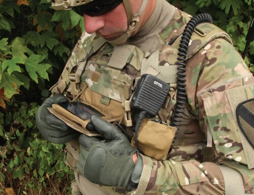 The Nett Warrior system allows commanders in the field to track the location of their soldiers and communicate with them on the battlefield. (Army)