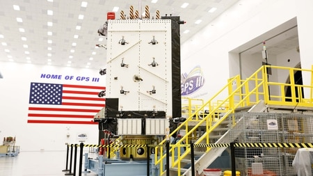 The U.S. Air Force declared the first Lockheed Martin-built GPS III satellite
