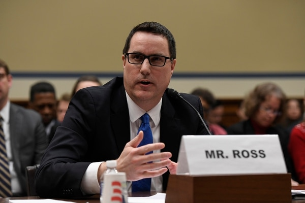 Environmental Protection Agency Assistant Administrator for Water Dave Ross testifies at a House Oversight and Reform subcommittee hearing on PFAS chemicals and their risks on Wednesday, March 6, 2019, on Capitol Hill in Washington. (Sait Serkan Gurbuz/AP)