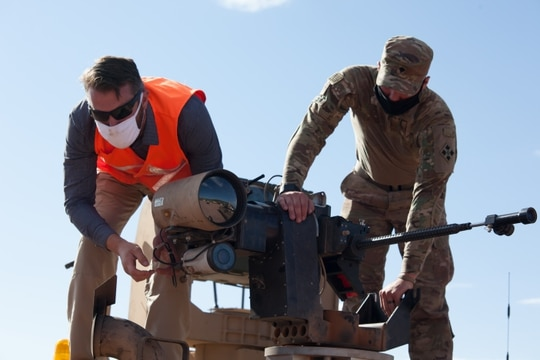 Soldiers with the 4th Infantry Division completed five weeks of maneuvers with prototypes of the Army's Robotic Combat Vehicle. (Joshua Gaede/Army)