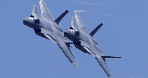 The Chengdu J-20 stealth fighter jet is to take part in the parade flypast Oct. 1. (Kin Cheung/AP)
