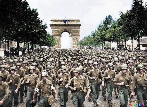Colorized photographs give life to these WWI, WWII U S  troops