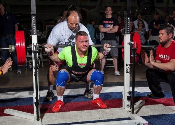 Army Maj. Donald Bigham's max squat is more than three times his body weight. (Courtesy photo via Army)