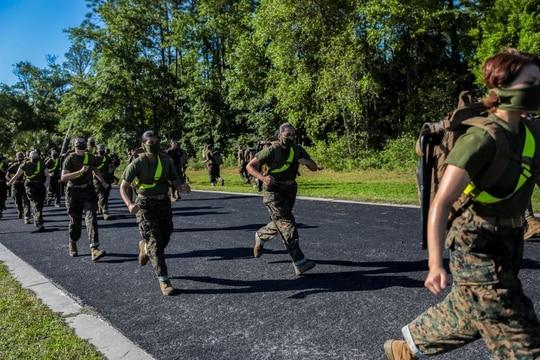Recruits train aboard Marine Corps Recruit Depot Parris Island, S.C. (Marine Corps)