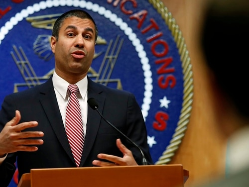 Last week, Ajit Pai, the chairman of the Federal Communication Commission, submitted the L-band Ligado spectrum proposal for approval. (Jacquelyn Martin/AP)