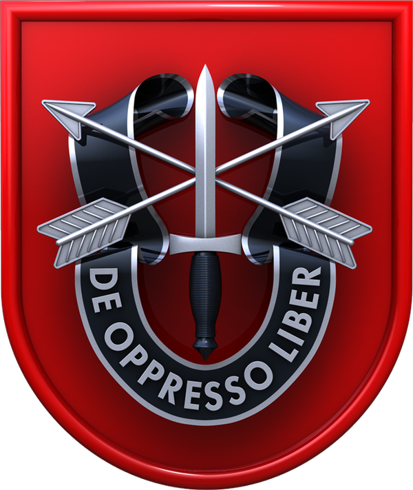 The insignia for 7th Special Forces Group, headquartered at Eglin Air Force Base, Florida.