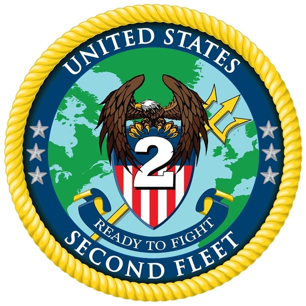 The official crest for the re-established U.S. 2nd Fleet (Navy)