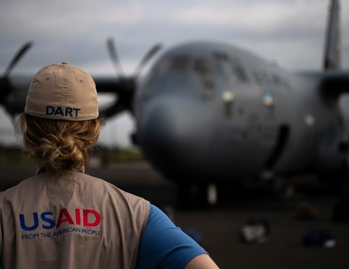 USAID is looking to up its cybersecurity standards to protect its partners abroad. (Tech. Sgt. Chris Hibben/Air Force)