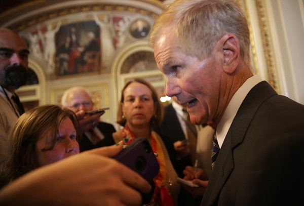 U.S. Sen. Bill Nelson, D-Fla., speaks to members of the media after the weekly Senate Democratic Policy Luncheon May 12, 2015 on Capitol Hill in Washington, D.C. (Photo by Alex Wong/Getty Images)