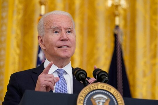 President Joe Biden speaks about COVID-19 vaccine requirements for federal workers in the East Room of the White House in Washington, Thursday, July 29, 2021. (Susan Walsh/AP)