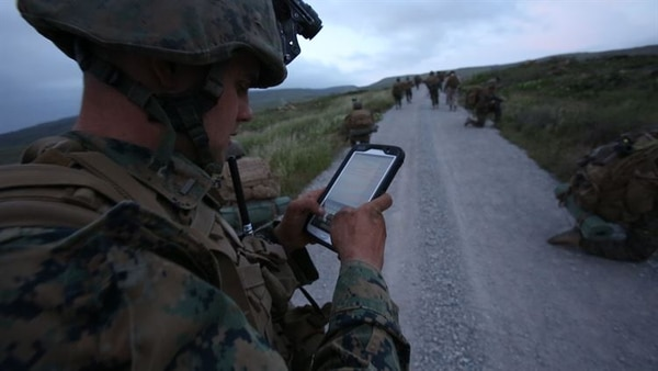 The MAGTF Common Handheld program will allow Marines to securely use modern handheld communications devices like tablets and smartphones in tactical environments to make more informed decisions on the go. (Pfc. Tyler W. Stewart/Marine Corps)