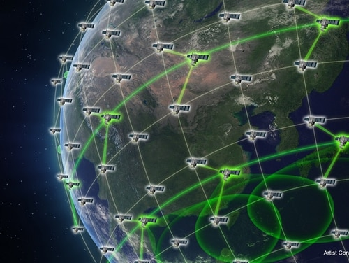 DARPA issued a trio of Blackjack contracts last week as the agency prepares to begin launching the main constellation in 2021. (DARPA)