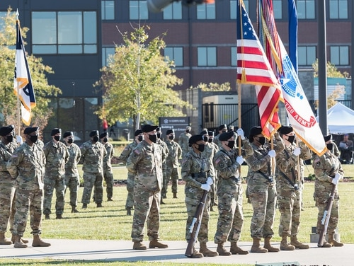 V Corps conducted a reactivation ceremony at Fort Knox, Ky., Oct 16, 2020. (Renee Rhodes/V Corps)