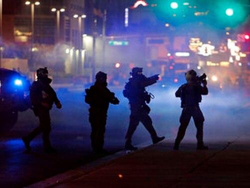 Unrest in Las Vegas. (AP Photo/John Locher, File)