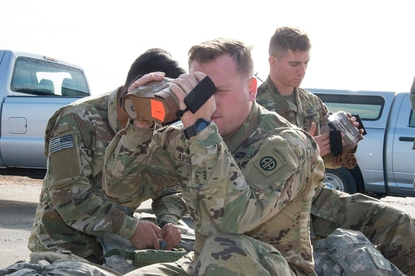 Army paratroopers recently completed testing on a new laser targeting device. The smaller, lighter Laser Target Locator Module, or LTLM II, gives paratroopers a better way to use range and hit targets with artillery and mortars. (Michael Zigmond/Army)