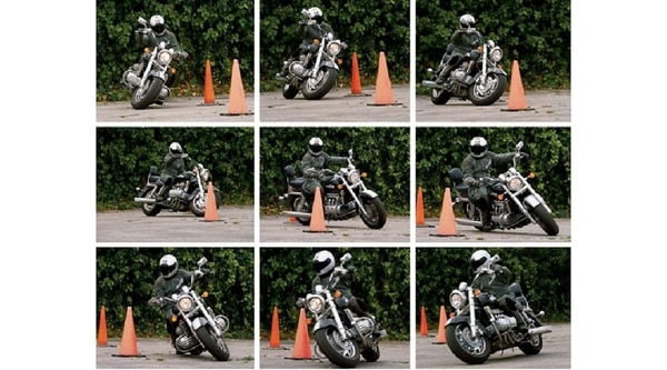 Even if you're just dodging cones, be sure you've got proper riding gear prior to starting your class. (Billy Bartels)