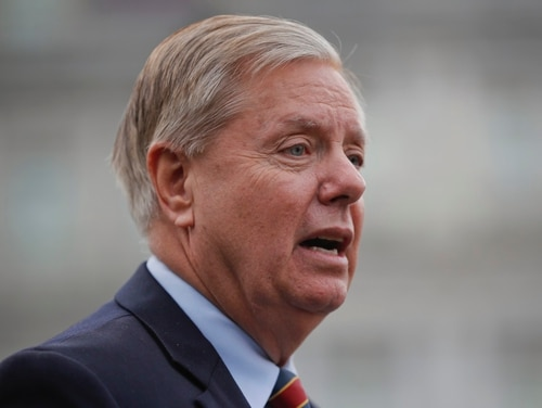 Sen. Lindsey Graham, R-S.C., speaks to members of the media outside the West Wing of the White House in Washington, after his meeting with President Donald Trump, Sunday, Dec. 30, 2018. (Pablo Martinez Monsivais/AP)
