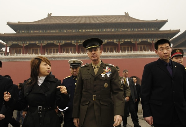 Chairman of the Joint Chiefs of Staff, Marine Gen. Peter Pace, is giving a guided tour of the Forbidden City in Beijing, China Mar. 23, 2007. General Pace was invited to visit the
