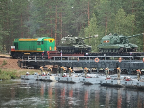 A joint special exercise of logistic supply units of Belarus and Russia in August 2017. (Russian Ministry of Defense)